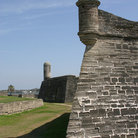 Picture - Defensive wall of Castillo de San Marcos in St Augustine.