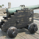 Picture - Fortress Cannon at Castillo de San Marcos National Monument, St Augustine.