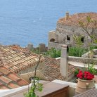 Picture - View over the castle town of Monemvasia.