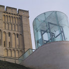 Picture - Glass structure in front of the Norwich Castle.