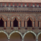 Picture - Detail fo the ancient Castle in Pavia.