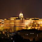 Picture - Budávari Palace (Castle Palace) at night in Budapest.