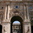 Picture - A castle gate in Budapest.