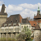 Picture - Vajdahunyad Vár (castle) in Budapest was built for 1896 Millennium celebrations to show all Hungarian architectural styles.