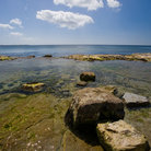 Picture - The shoreline at Castletown on the Isle of Man.