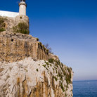 Picture - Lighthouse on a cliff at Castro Urdiales.