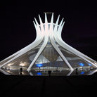Picture - The Cathedral in Brasilia seen at night.