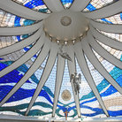 Picture - Interior view of the Cathedral in Brasilia.