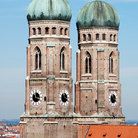 Picture - Domed tower of the Church of Our Lady in Munich.