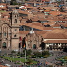 Picture - View of the Cusco Cathedral and square.
