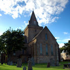 Picture - Exterior view of the Dornoch Cathedral.