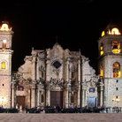 Picture - The Havana Cathedral seen at night.