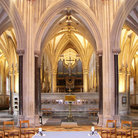 Picture - The beautiful interior of Wells Cathedral.