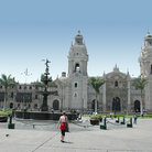 Picture - The cathedral in downtown Lima.