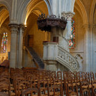 Picture - Interior of the Lausanne Cathedral .