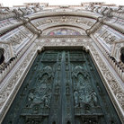 Picture - The ornate facade of the Cathedral of Santa Maria del Fiore in Florence.