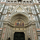 Picture - Ornate entrance to the Cathedral in Florence.