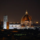 Picture - Overview of the Duomo in Florence at night.