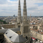 Picture - Skyline of Bordeaux with the spires of the Cathedral St Andre.
