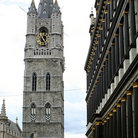 Picture - St Baafs Kathedraal and Belfort in Ghent.