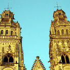 Picture - Towers of the Tours Cathedral.