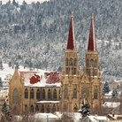 Picture - Snow covered Cathedral in Helena, Montana.
