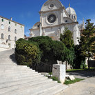 Picture - Stairs leading to the Cathedral of St Jacob, a UNESCO World Heritage Site, in Sibenik.