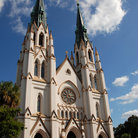 Picture - Front view of the Cathedral of St John the Baptist in Savannah.