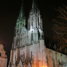 Picture - The beautiful Saint Wenceslas Cathedral in Olomouc, seen at night.
