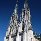 Picture - The twin towers and rose window of St Wenceslas in Olomouc.