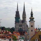 Picture - Cathedral and church in Zagreb.