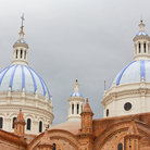 Picture - Blue domes of the Cathedral Of The Immaculate Conception In Cuenca.