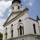 Picture - The white Gyor Cathedral.