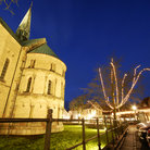 Picture - The Ribe Cathedral at night.