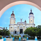 Picture - Front view of the Catedral de Nuestra Senora de la Asuncion in Santiago de Cuba.