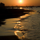 Picture - Sunset over the shore at Cattolica.