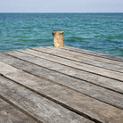 Picture - A dock on the island of Caulker Caye.