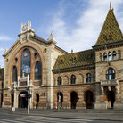 Picture - The main market hall in Budapest.