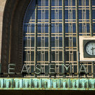 Picture - A clock at Helsinki Central Station.