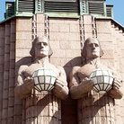 Picture - Statues at Helsinki Central Station.