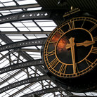 Picture - Old clock at York Station.