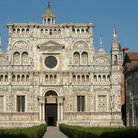 Picture - Ornate exterior of Certosa di Pavia.