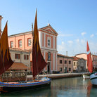 Picture - Unique sailboats at Cesenatico.