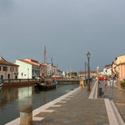 Picture - Boats in the jetty at Cesenatico.