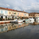 Picture - The harbor at Cesenatico.