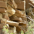 Picture - Detail of the construction of uins in Chaco Canyon.