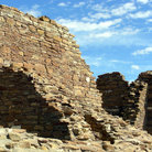 Picture - Ruins of Pueblo People in Chaco Canyon.