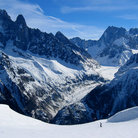 Picture - The Mer de Glace glacier at Chamonix.