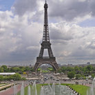 Picture - Eiffel Tower on the Champs de Mars in Paris.