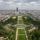Picture - Looking down on Champ-de-Mars in Paris.